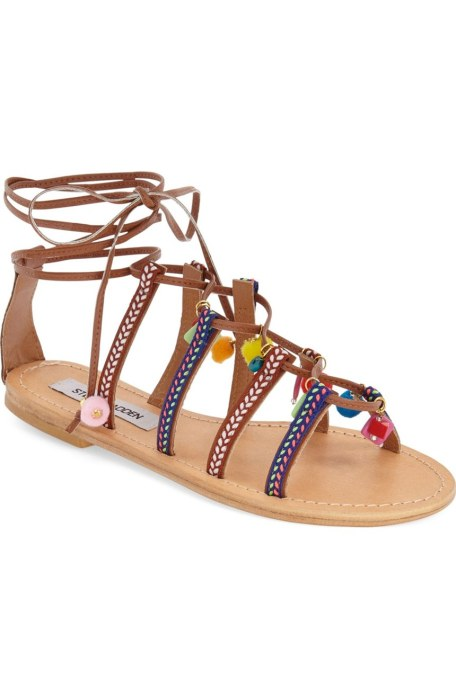 "Steve Madden ""Ommaha"" Lace up Embellished Sandals"