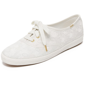 Keds for Kate Spade Embroidered White Sneaker