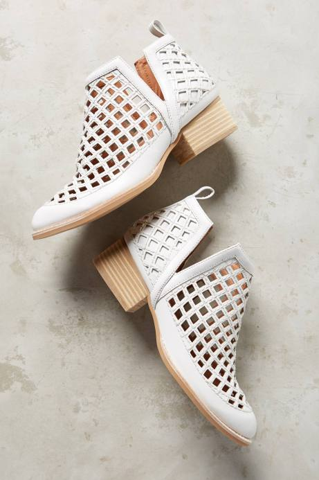 Jeffrey Campbell Taggart Booties in White