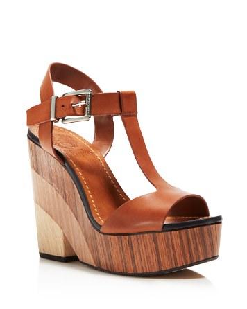 Vince Camuto Oriana Platform T-strap wooden wedges