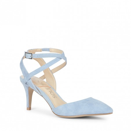 Light Blue Pointed-Toe Heel