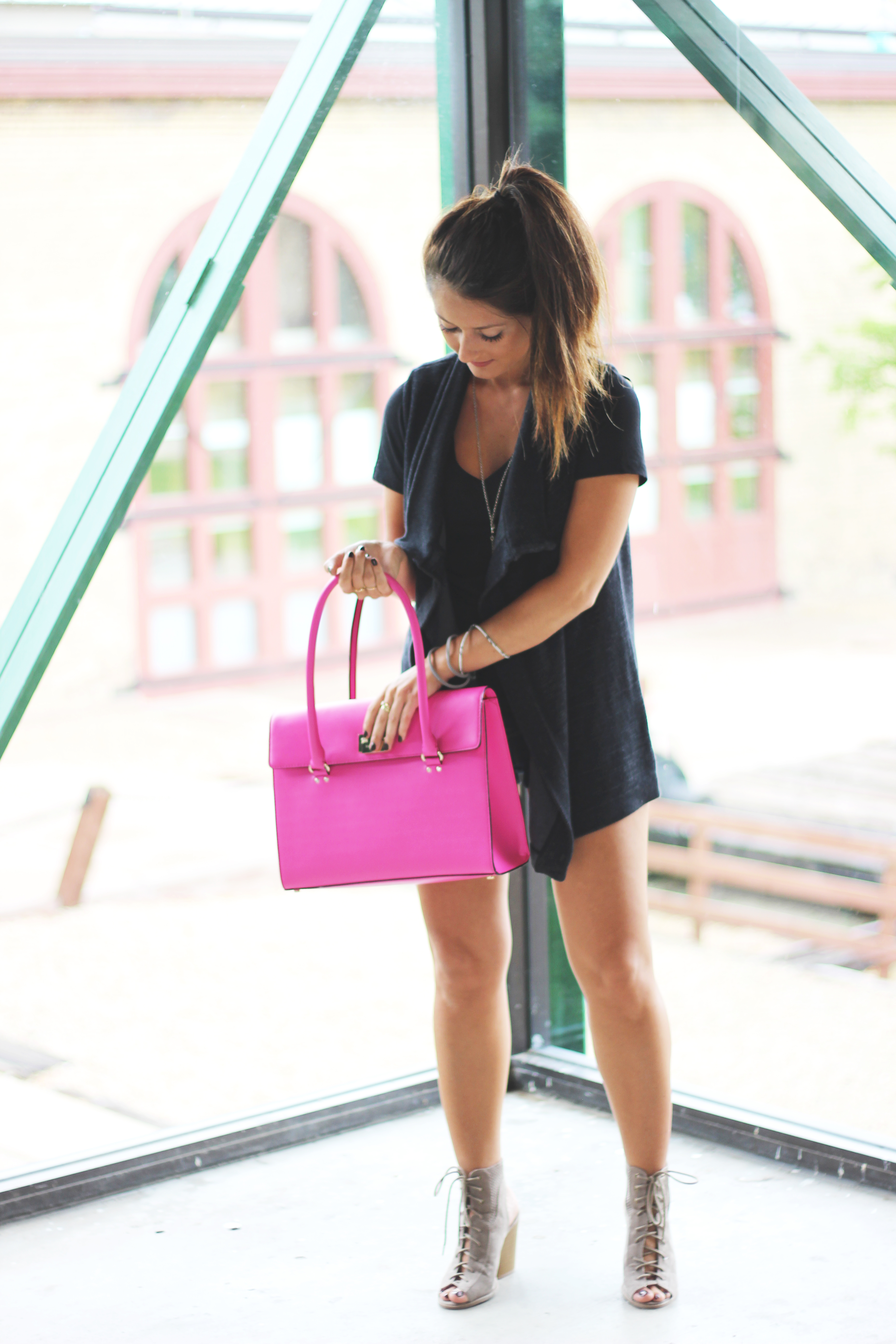 Black and pink outfit