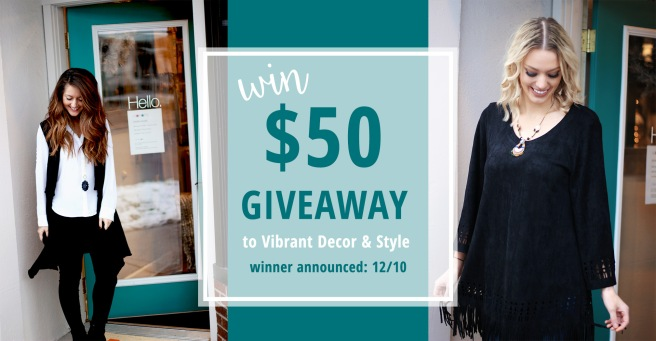 win $50 to Vibrant Decor and Style