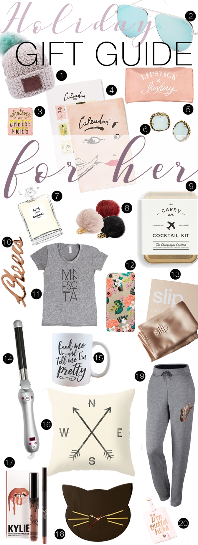 Holiday Gift guide for her collage